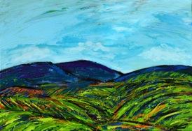 Wilde Weinberge, 2016 Acryl auf Leinwand 70 X 100 cm